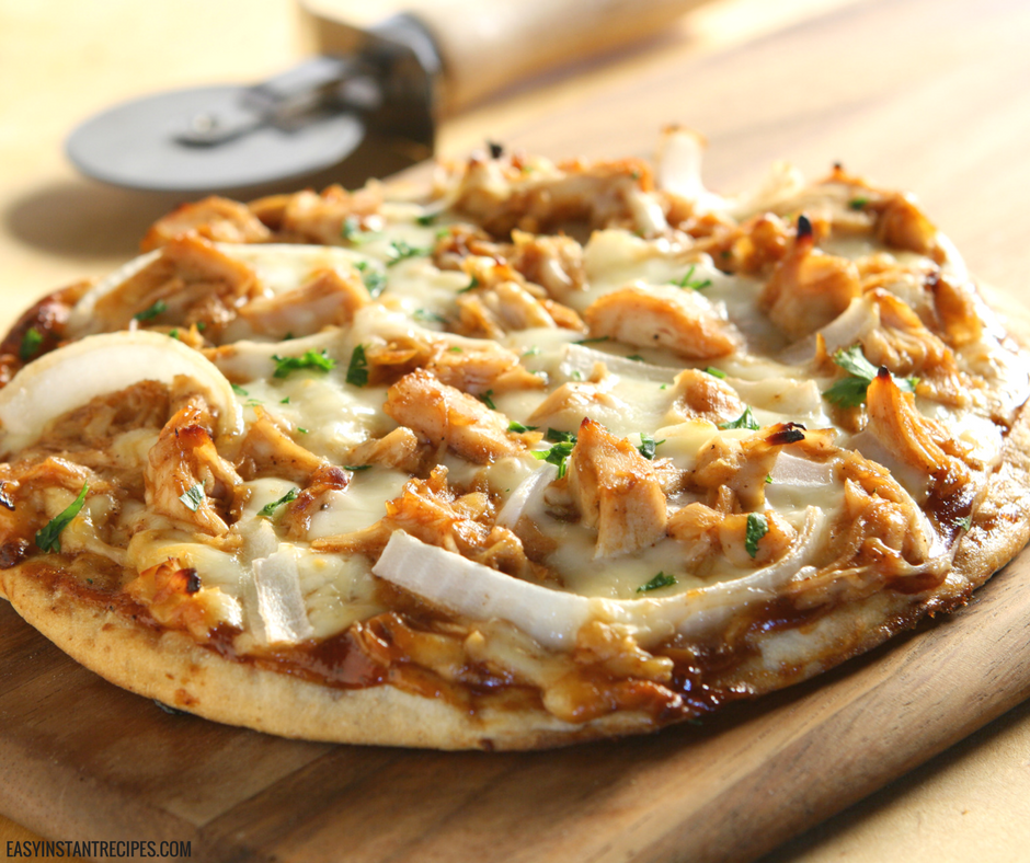 instant pot buffalo chicken pizza