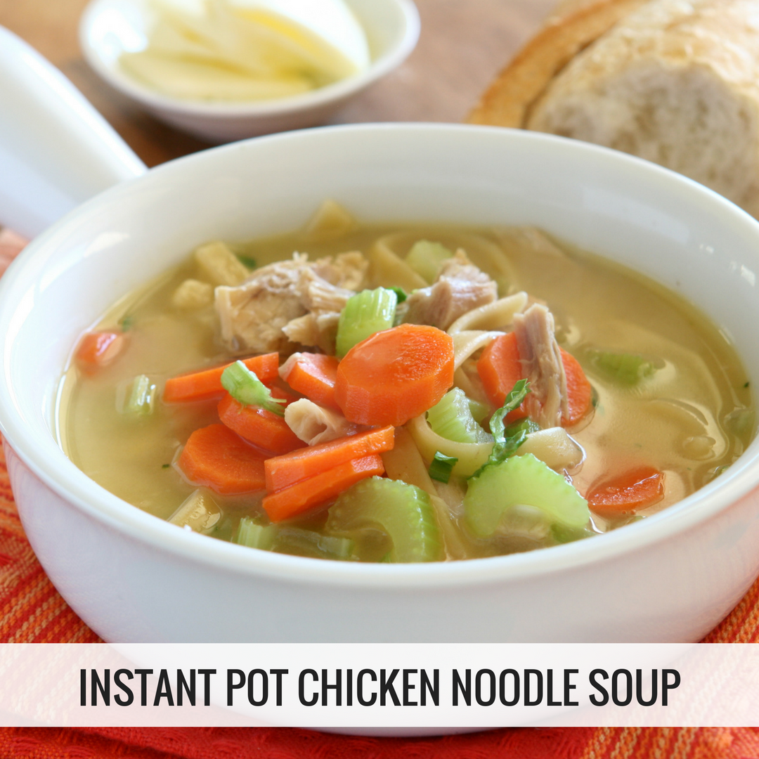 Instant pot chicken noodle soup easy instant recipes for Chicken recipes for the instant pot